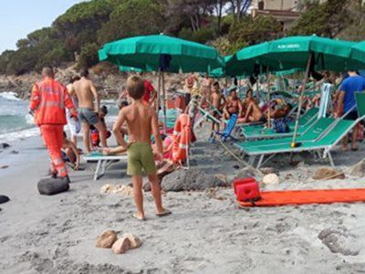 Il 118 sulla spiaggia de Sas linnas siccas