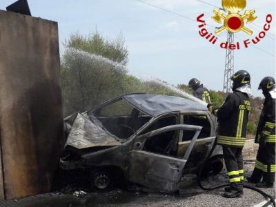 L'auto dopo l'incidente