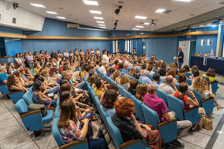 Nuoro. Incontro con il pedagogista Lorenzo Braina (foto S.Novellu)