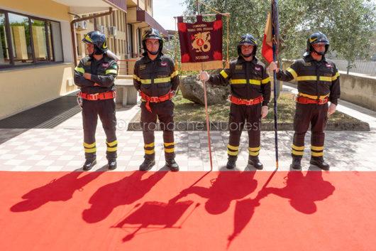 Nuoro, l'incontro con il sottosegretario Candiani dai Vigili del fuoco (foto s.Novellu)