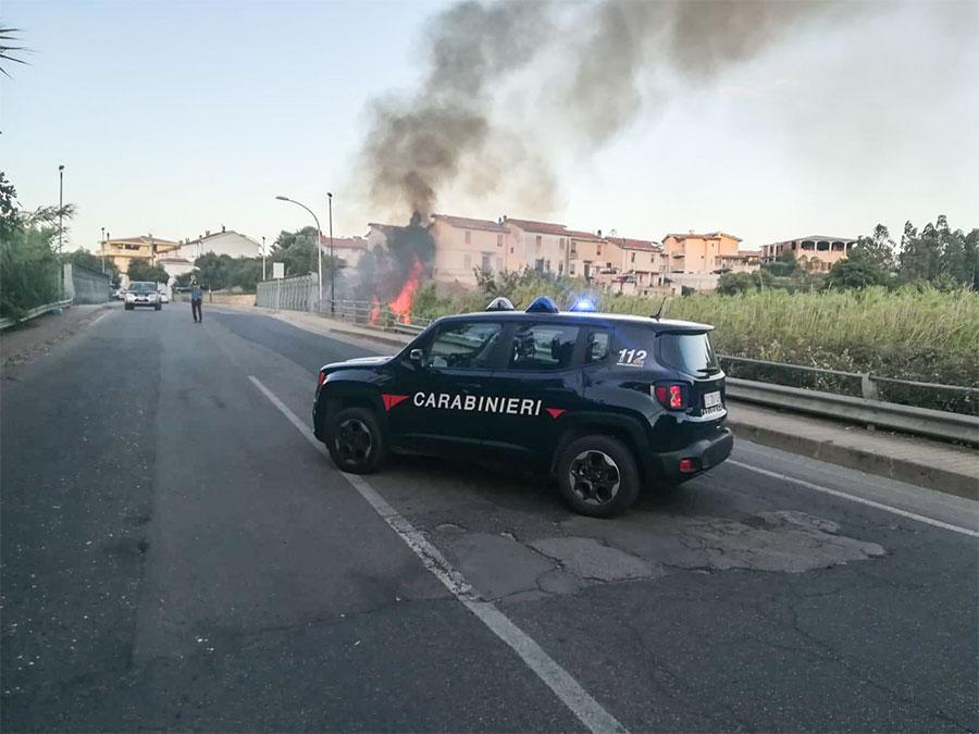 Siniscola, incendio al ponte di ferro.jpg