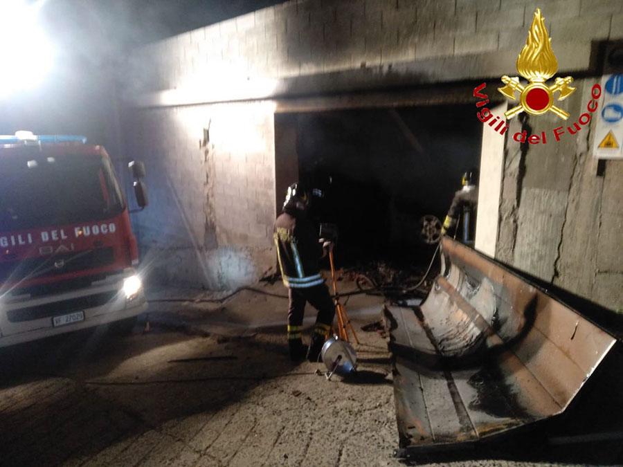 I Vigili del fuoco al lavoro a Burgos