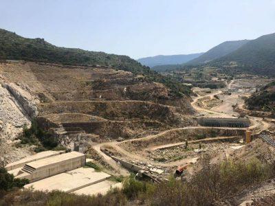 I lavori alla diga di Cumbidanovu