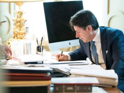 Il presidente del consigli Giuseppe Conte