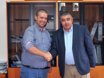 Il sindaco di Cardedu Piras con l'assessore Sanna