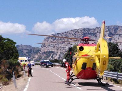 L'elisoccorso sul luogo dell'incidente