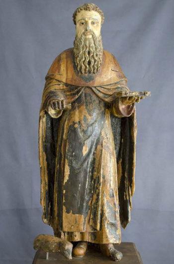 Maestro di Castelsardo. Statua lignea di Sant'Antonio Abate