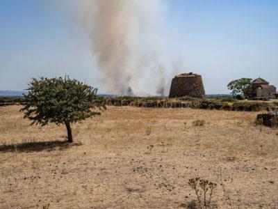 Marghine in fiamme (foto S.Novellu)