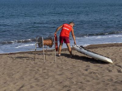 Servizio di salvataggio a mare (foto S.Novellu)