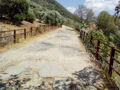 Uno scorcio della strada de Su Grumene
