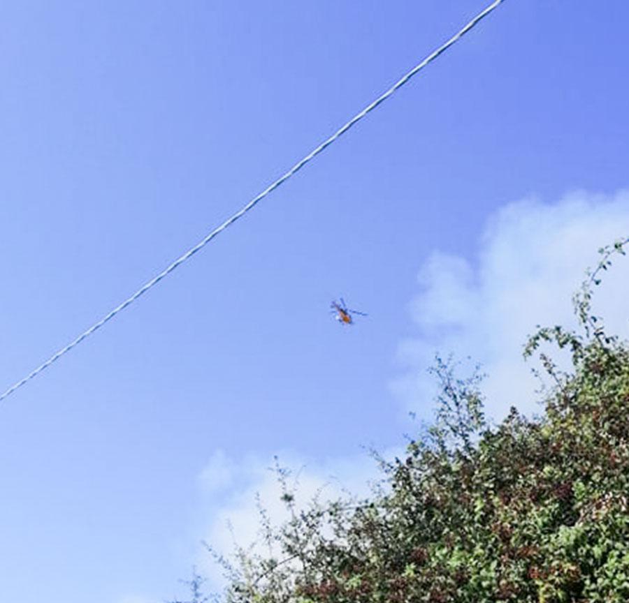 Incendio nelle campagne di Osidda intervengono due elicotteri