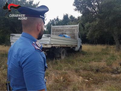 Il camion rinvenuto dei Carabinieri a Bitti