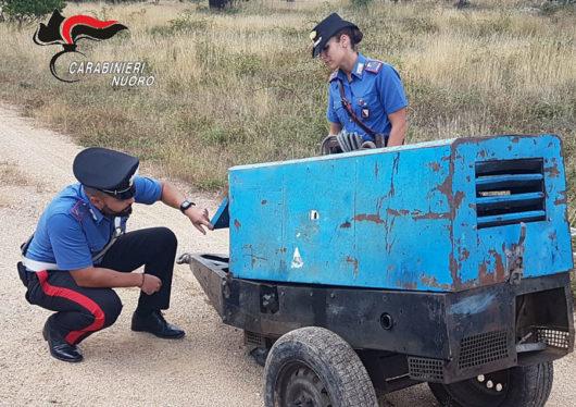 La saldatrice rinvenuto dei Carabinieri a Bitti