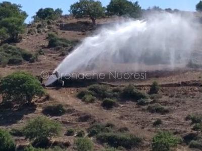 La perdita d'acqua in zona Biscollai