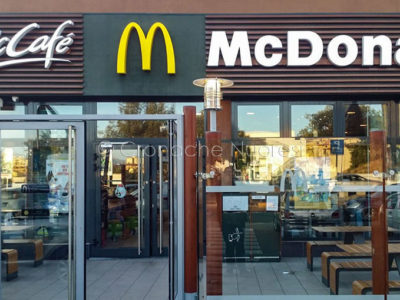 Il McDonald's di via Don Bosco a Nuoro (f. S. Novellu)