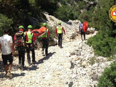 Un intervento del Soccorso Alpino e Speleologico della Sardegna