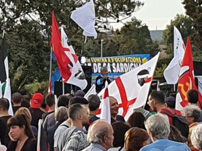 Antimilitaristi a Capo Frasca