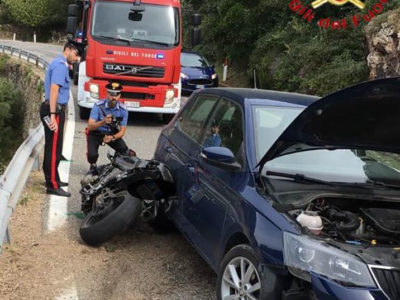 I due mezzi coinvolti nell'incidente