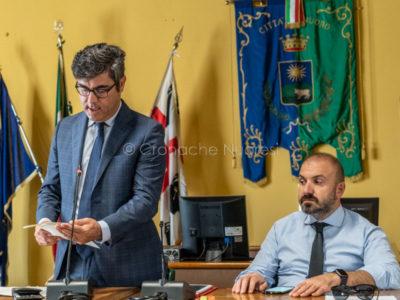 Il sindaco Andrea Soddu e il vice Sebastian Cocco (foto S.Novellu)