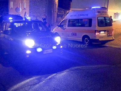 118 e Carabinieri sul luogo dell'incidente