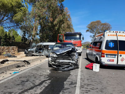 La scena dell'incidente sulla Statale 125