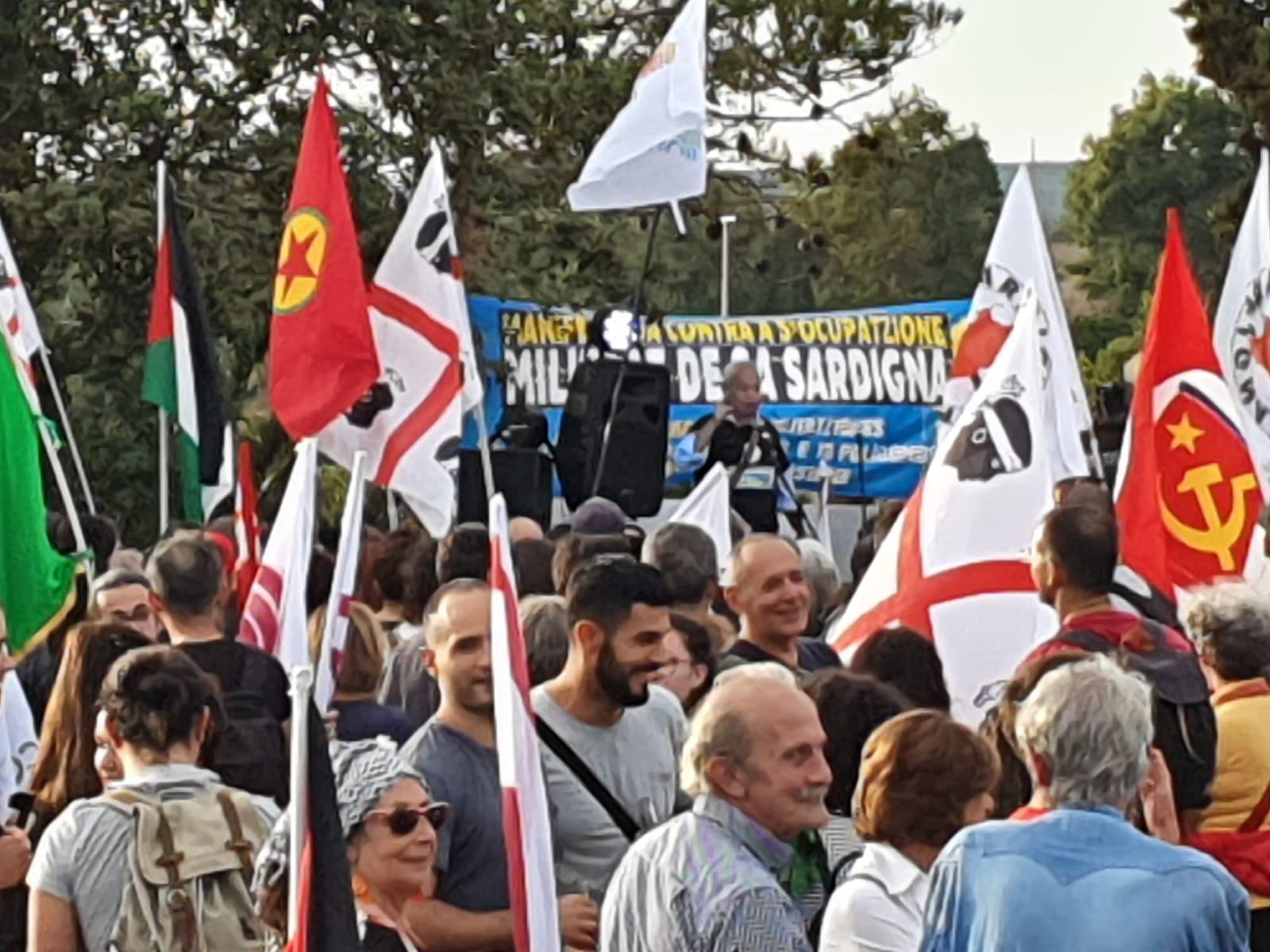 Manifestazione a Capo Frasca