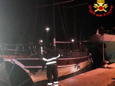 L'imbarcazione che stava per affondare