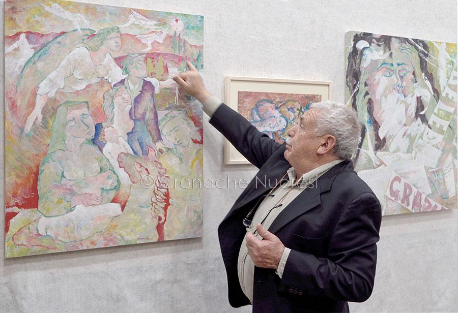 Alfonso Silba all'inaugurazione della mostra 'A Cosima' (foto S.Novellu)