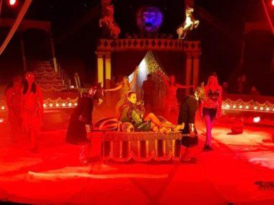 Un momento dello spettacolo del circo di Francia