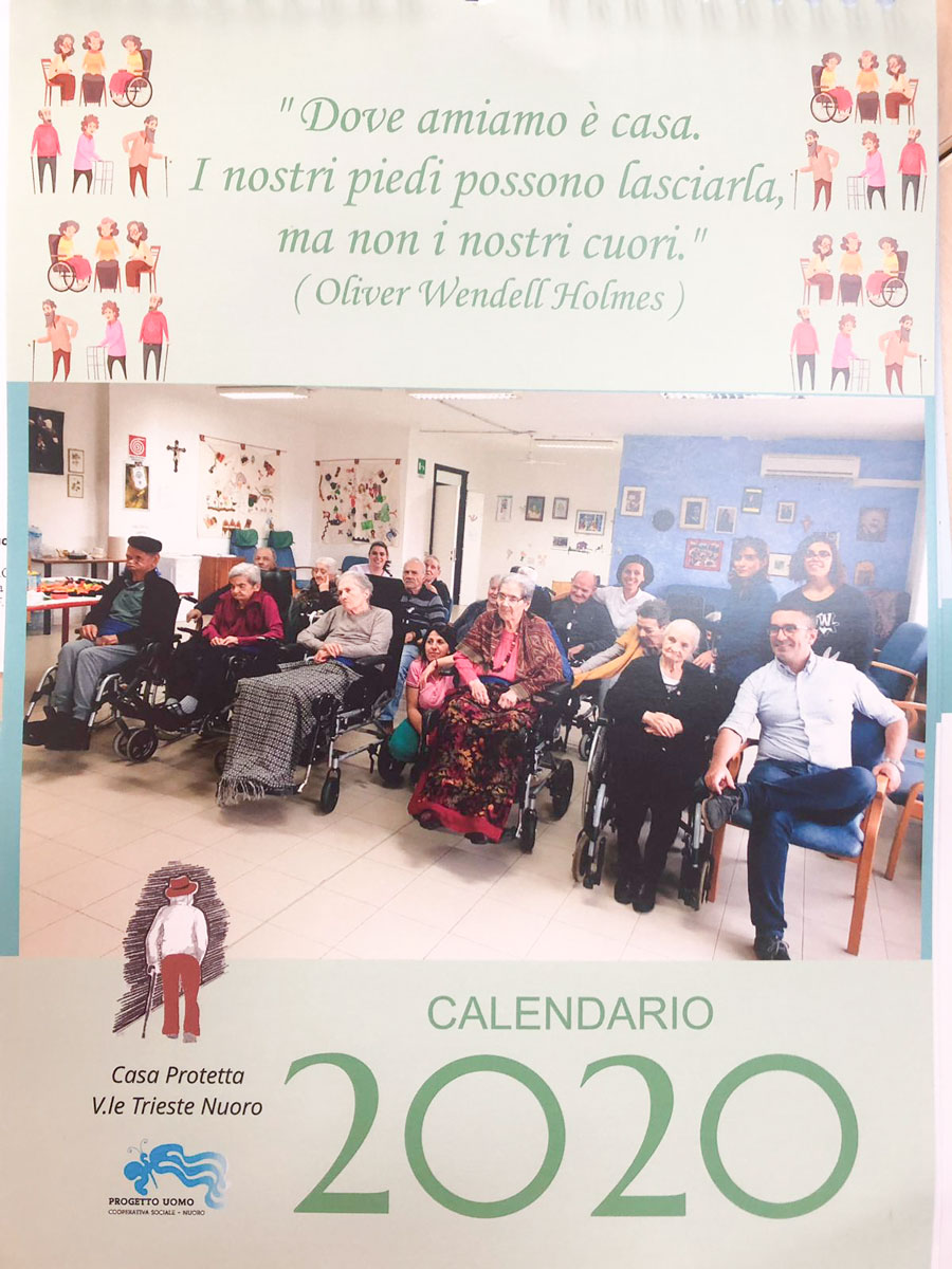 Il Calendario della Casa Protetta di via Trieste