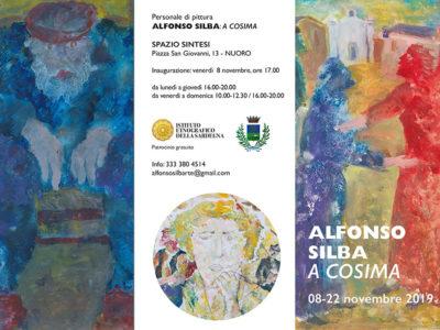 La locandina della mostra di Alfonso Silba