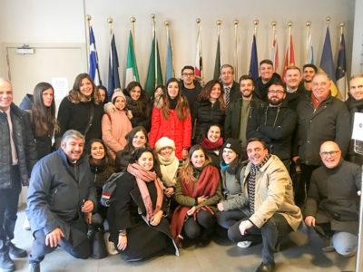 La delegazione di Uninuoro a Bruxelles