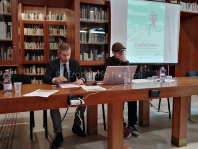 Mureddu e Mele durante la presentazione di Cada Contu (f. F. Becchere)