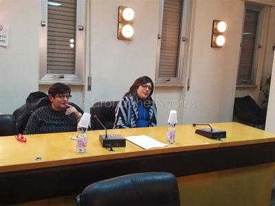 Le consigliere comunali Pinna e Atzori (f. P.G: Vacca)