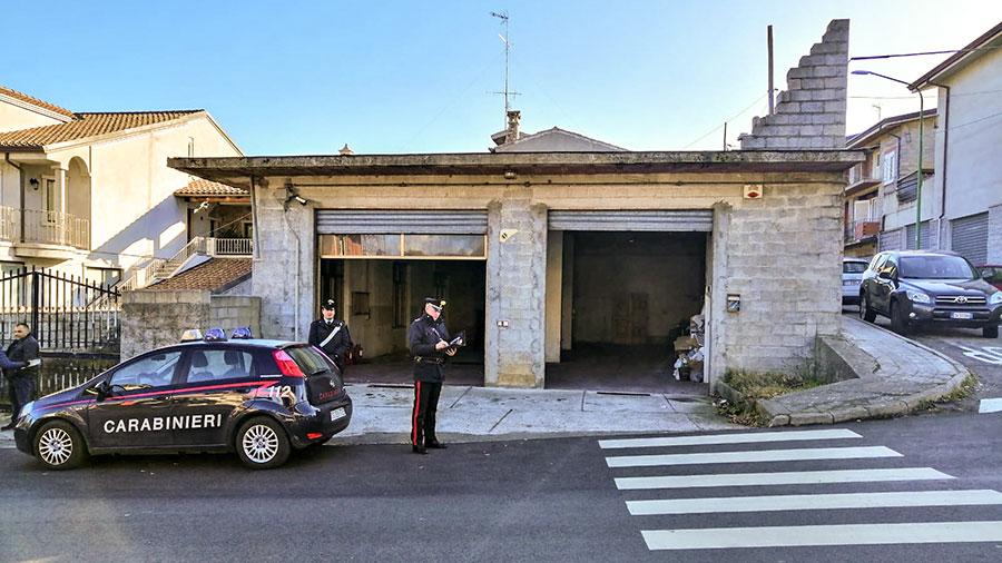 Il garage della compagnia Barracellare di Fonni