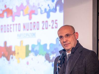 Leonardo Moro, alla presentazione del progetto Nuoro 20-25 (foto S.Novellu)