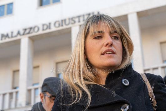 Vertenza latte. L'avvocato Giulia Lai dopo l'udienza (foto S.Novellu)