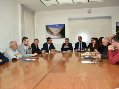 Il vertice tra l'assessore Frongia e i sindaci del Marghine