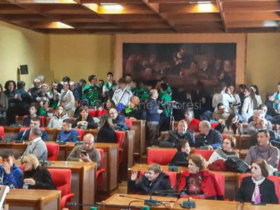 Cerimonia di premiazione degli atleti del Nuorese in Comune a Nuoro