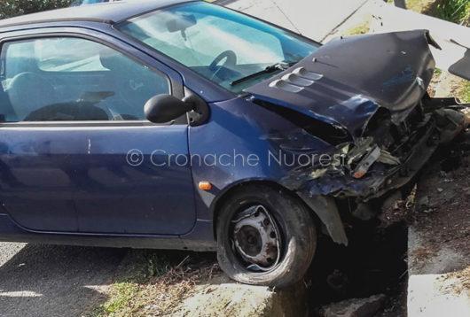 La Twingo dopo l'incidente