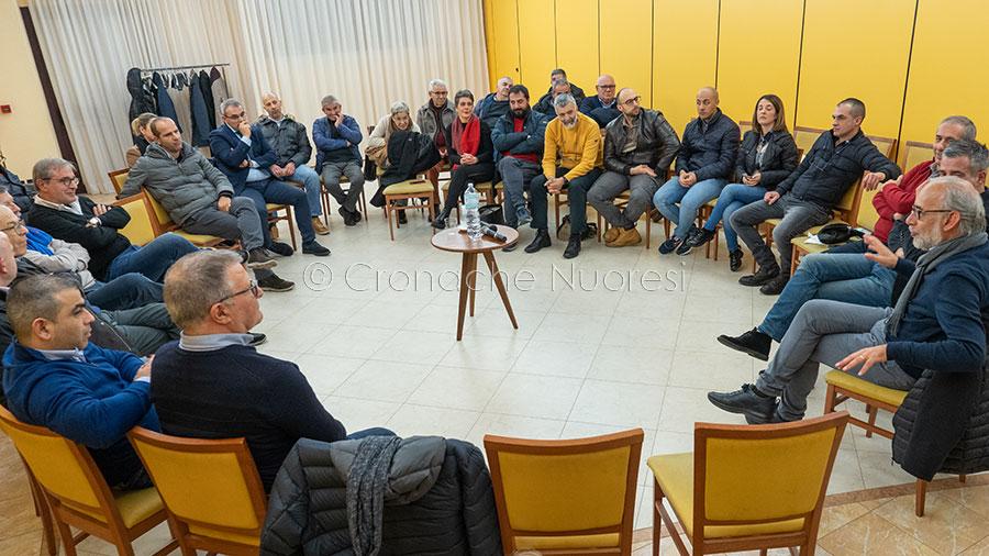 La Coalizione del Centro sinistra riunita per le Comunali (f. S.Novellu)