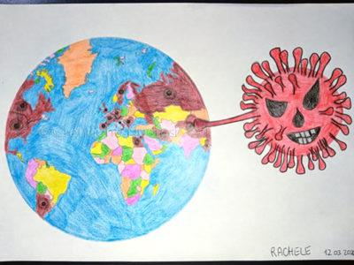 Coronavirus, il disegno di Rachele