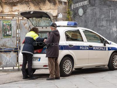 Emergenza Coronavirus, controlli di Polizia (© foto S.Novellu)