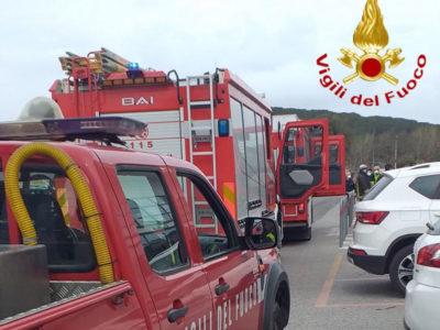 Incendio al San Francesco di Nuoro