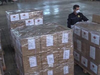 La fornitura di dispositivi di sicurezza arrivata dalla Cina