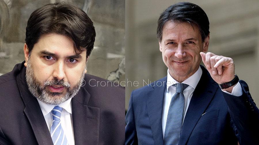 Christian Solinas e Giuseppe Conte