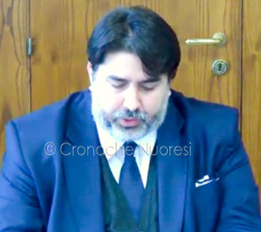 Il presidente della Giunta Christian Solinas