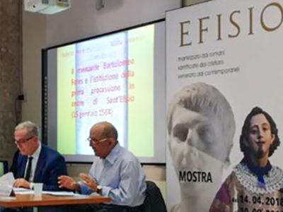Roberto Porrà nel corso di una conferenza su San'Efisio