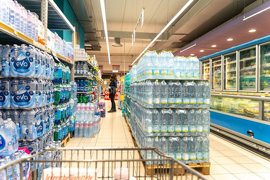 Spesa al supermercato ai tempi del Coronavirus (foto S.Novellu)