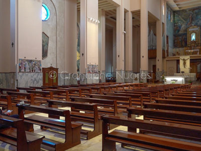 Coronavirus. La chiesa delle Grazie a Nuoro (foto S.Novellu)